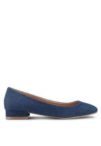 Bata 藍色 質感丹寧平底鞋 F818BSHA2E1B9FGS_1