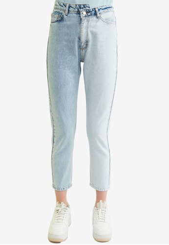Trendyol blue High Waist Mom Jeans AED70AA1255632GS_1