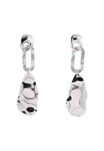 River Island white Resin Wavy Drop Earrings 69DFBAC050E14EGS_1