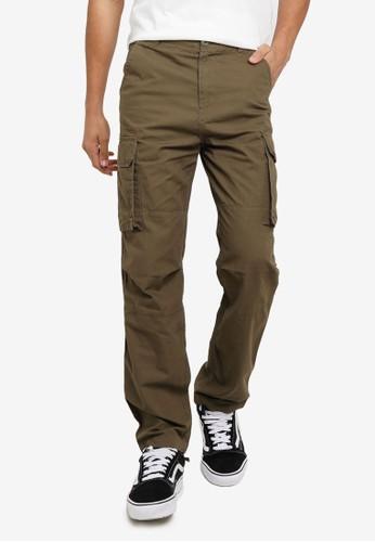 Factorie brown Straight Leg Cargo Pants D5C99AAF20ECAAGS_1