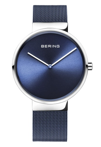 Bering silver Classic 14539-307 Blue 39 mm Unisex Watch AEC4BACD878670GS_1