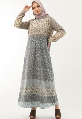 Anggiasari Mawardi green Kalula Batik Dress 40CB6AA07D5CA6GS_1