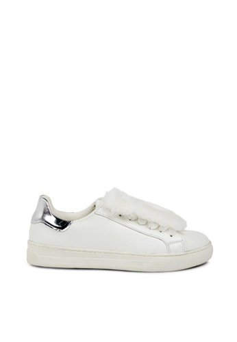 Andre white ADLEXIE Faux Shearling Trimmed Sneakers AN324SH0FJWGSG_1