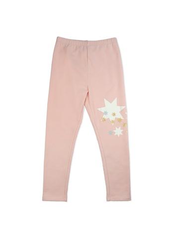Vauva pink Vauva Girls Stars Skinny Pants - Pink 49F0FKA5FF915EGS_1