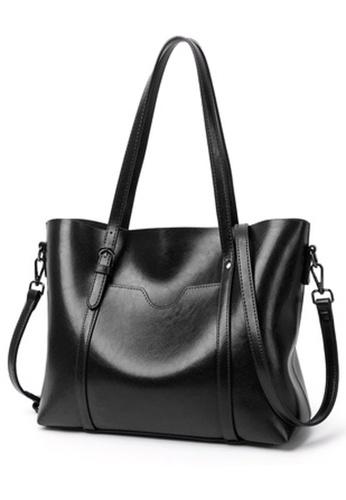 Halo black Vintage Three Way Crossbody Bag AB034AC8573286GS_1