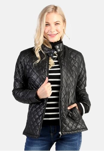 London Rag black Puffer Jacket With Zip Closure F6BE4AADF74A5EGS_1