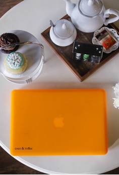 MacBook case bundle for Air 13 – Pumpkin Orange