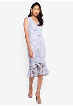 8ddfb7cc4 Lipsy blue Cornflower Lace V Neck Bodycon Dress F1434AA232F69AGS_1