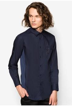 Zipper Pocket Shirt With Mesh Panel