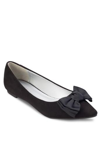 Heidi 大蝴蝶結尖頭平底鞋, 女鞋,esprit官網 芭蕾平底鞋