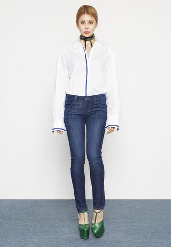撞色滾邊長袖襯衫、 服飾、 T-shirtHighfur撞色滾邊長袖襯衫最新折價