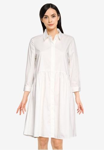Vero Moda white Maggie 3/4 Sleeves Dress 651C3AAD57C371GS_1