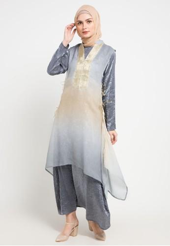AZZAR grey Elakshi Maxi Dress 4765BAA859498FGS_1