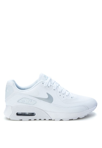 Nike black and white and silver Women's Nike Air Max 90 Ultra 2.0 Shoes NI126SH0SN8HMY_1