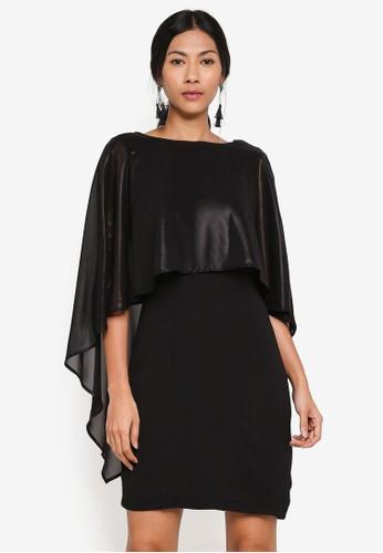 OVS black Dress With Semi-Sheer Insert C082EAA138B616GS_1