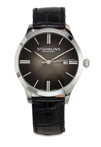 Stuhrling Original black Cuvette II Watch 3334EAC38488ABGS_1