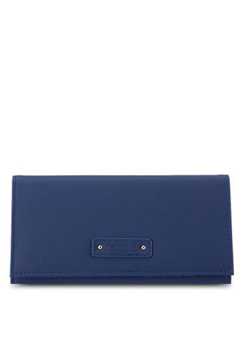 Perllini&Mel navy Faux Leather Long Wallet PE444AC0SBN8MY_1