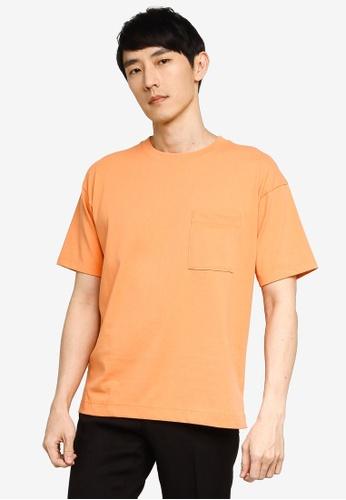 GLOBAL WORK orange Pocket T-Shirt C5532AA8EF1439GS_1