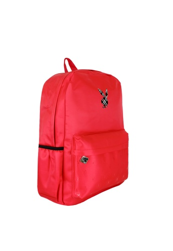 Playboy red Printed Backpack 6AF08AC4AA4F2AGS_1