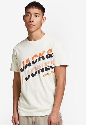 Jack & Jones beige Alpha Short Sleeves Tee 05A58AA98AAB1EGS_1