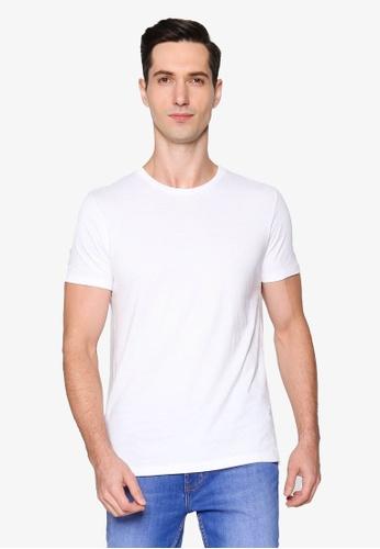 Burton Menswear London white White Organic Cotton Short Sleeve Crew Tee 132E7AA1C456A6GS_1