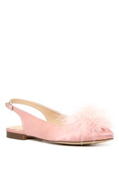 e5da52204e4 40% OFF London Rag Sybil Women s Blush Furry Pom Pom Slingback Stylish Flats  SH1626 Php 2