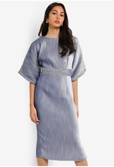 4cdfa28ff41de CLOSET blue Closet Kimono Side Slit Midi Dress 9025AAAA01969BGS 1