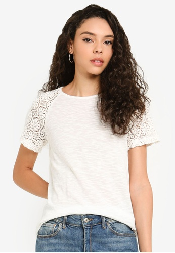36b9666e19c Buy Superdry Elisa Lace Raglan Tee Online on ZALORA Singapore