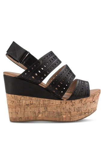 Nose black Perforated Strap Wedges NO327SH27CWEMY_1