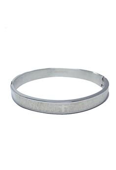 Stainless Steel Inscription Bangle