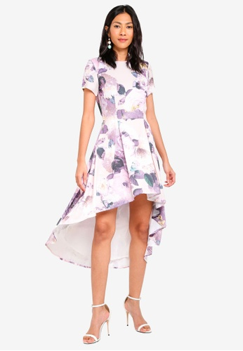 MDSCollections pink Masha Flare Dress In Blush Floral 2278EAACEBD19AGS_1