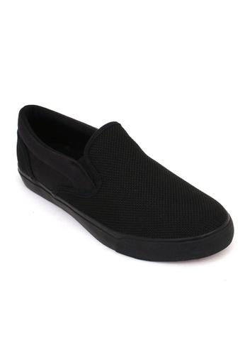 World Balance black Nixon Men's Slip On Sneakers 7F5BBSH59D7C55GS_1