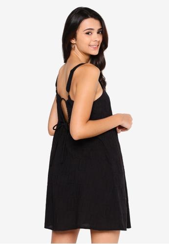 Cotton On black Woven Rizzo Keyhole Back Mini Dress 18E77AAEFE7D31GS_1
