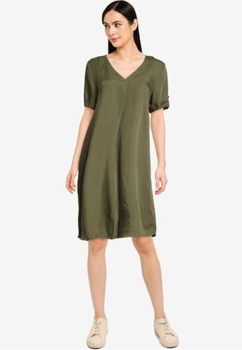 JACQUELINE DE YONG green JDYSILJA LIFE 2/4  DRESS WVN 4BF13AA062FF56GS_1