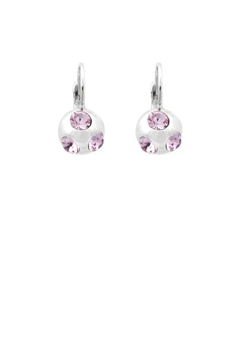 Glamorousky purple Elegant Pair Earrings with Purple Austrian Element Crystal 4D0F1ACE9A8536GS_1