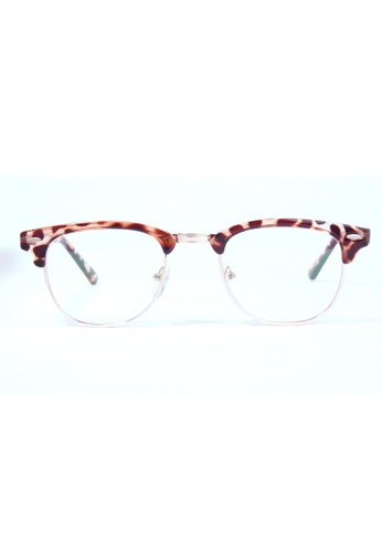Kyfer's Eyewear & Essentials brown Vintage Half Rim Clubmaster (Small) KY376AC85JZISG_1