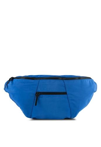 TOPMAN blue Cobalt Blue Oversized Waist Bag TO413AC0T1IZMY_1