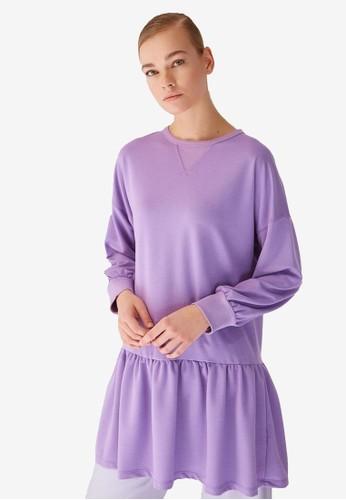 Trendyol purple Ruffled Tunic B8737AA1BE0893GS_1