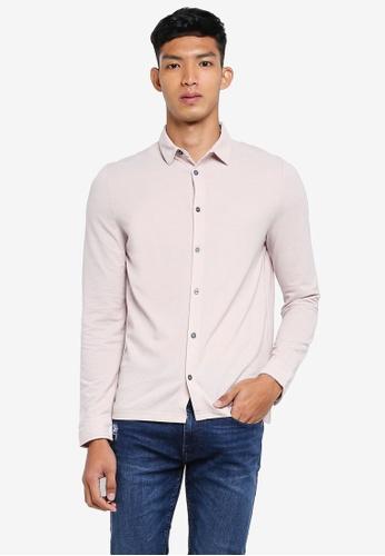 Burton Menswear London 粉紅色 休閒長袖襯衫 01280AA5279CBAGS_1