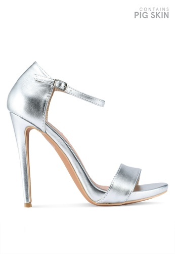 LOST INK silver Blossom Stiletto Sandals 42EDBSH9EEF0BBGS_1