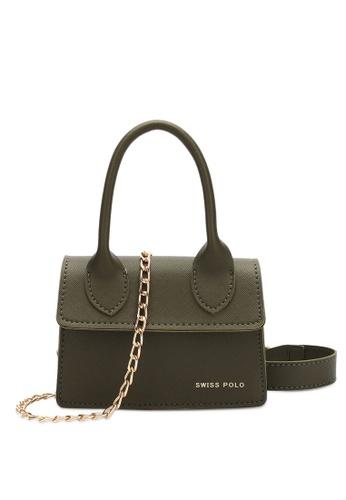 Swiss Polo green Swiss Polo Ladies Chain Sling Bag 6AA99ACA8AB743GS_1