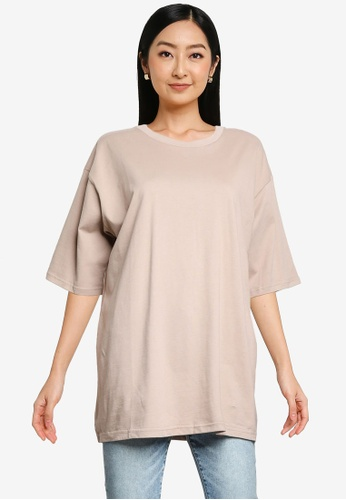 Heather pink Casual T-Shirt 13B96AAFD93E6AGS_1