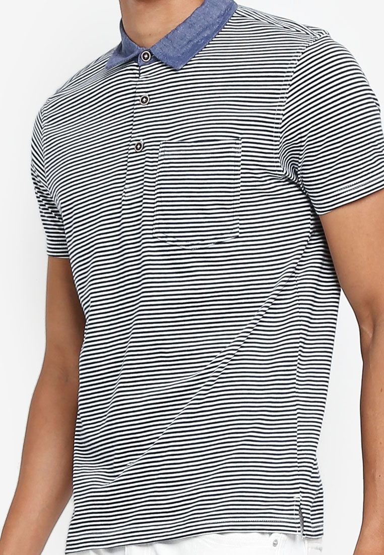Jersey Striped Indigo Mood Polo Shirt OVS ZZwadrqB