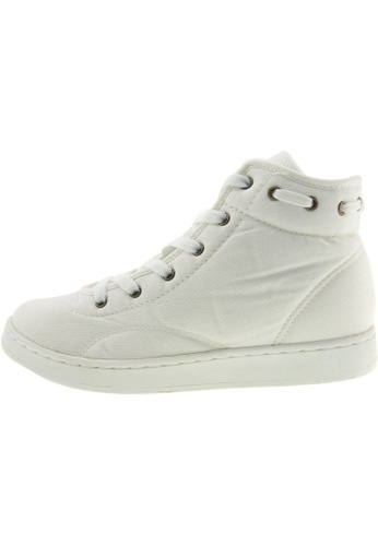 Maxstar 白色 新款韩国鞋020-Taller時尚帆布布混合女白色 US Women Size MA345SH26GWBTW_1