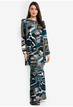 0f3dcdad26 Zuco Fashion blue and navy Midi Kurung Kedah Hi-Lo Cut 14FEDAA4526F8CGS_1