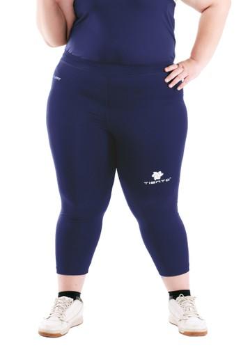Tiento navy Tiento Women Compression Big Size 3/4 Pants Navy Celana Legging Leging Jumbo Sebetis Wanita Olahraga Original 18B7DAA82B46B4GS_1