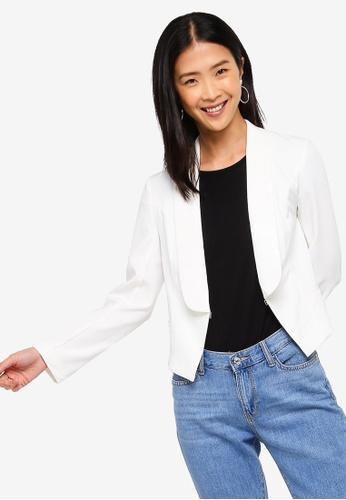 ZALORA BASICS white Basic Tailored Blazer 52857AA0AD0EA1GS_1