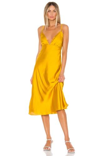 Lovers + Friends yellow Winslet Midi Dress(Revolve) 5FB03AA4E33711GS_1