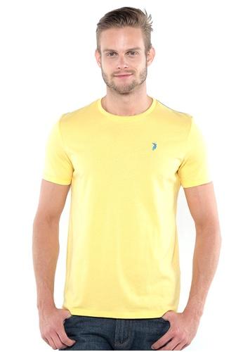 POLO HAUS yellow Polo Haus - Round Neck Tee (Light Yellow) PO783AA35OKAMY_1