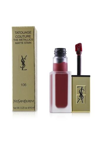 Yves Saint Laurent YVES SAINT LAURENT - Tatouage Couture The Metallics - # 106 Gilded Fuchsia Rivals 6ml/0.2oz A7C5DBEF6F2F85GS_1